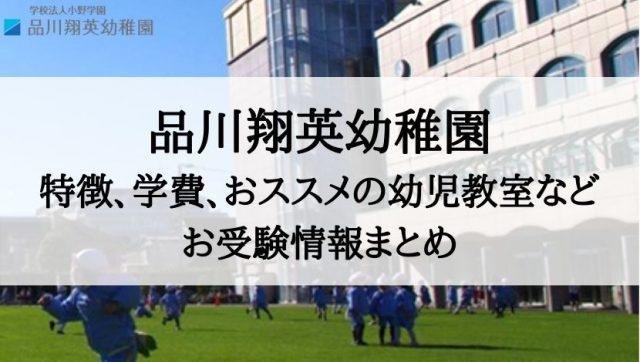 品川翔英幼稚園 学費 倍率