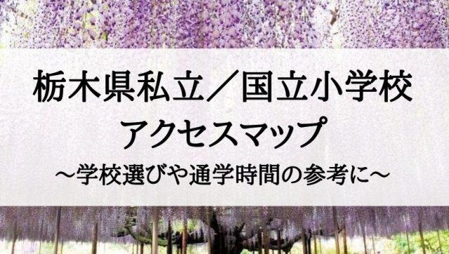 栃木県の私立小学校・国立小学校